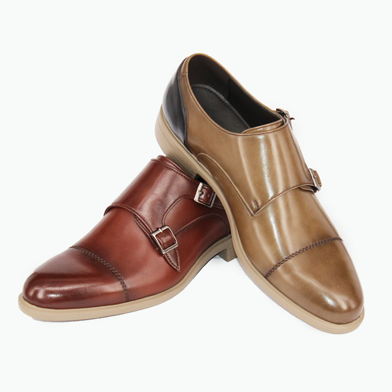 monk style leather dress footwear soft wholesale China shoes mens strap custom formal p8gTwtq