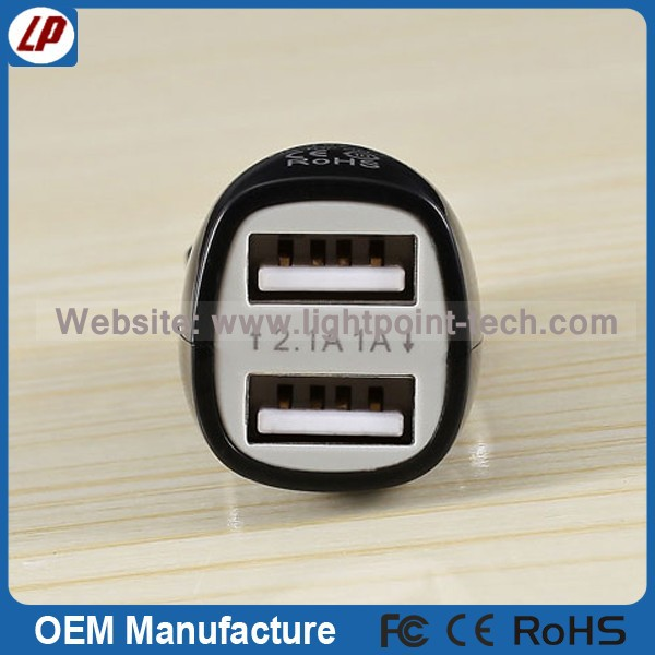 Colorful mini usb car charger with CE RoHS New products of 2015