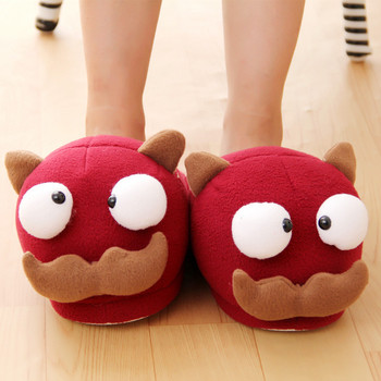 2016winter warm soft indoor floor slippers women men children shoes paw funny animal christmas monster dinosaur