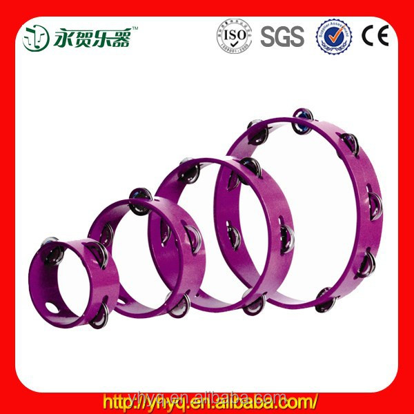 colrful Wooden tambourine jingles from China