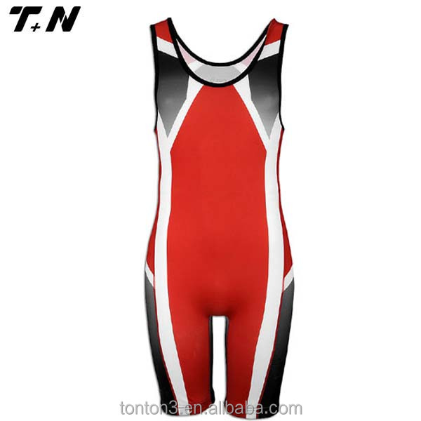 china high quality women sublimated wholesale wrestling singlet