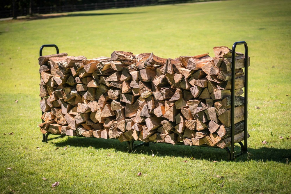 8' Firewood Wood Log Rack Lumber Storage Holder