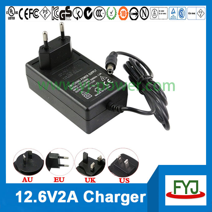 battery charger 12.6v 2a 3S 11.1v charger for li-ion rechargeable battery 11.1v YJP-126200 approved <strong>DHL</strong>/Fedex free shipping