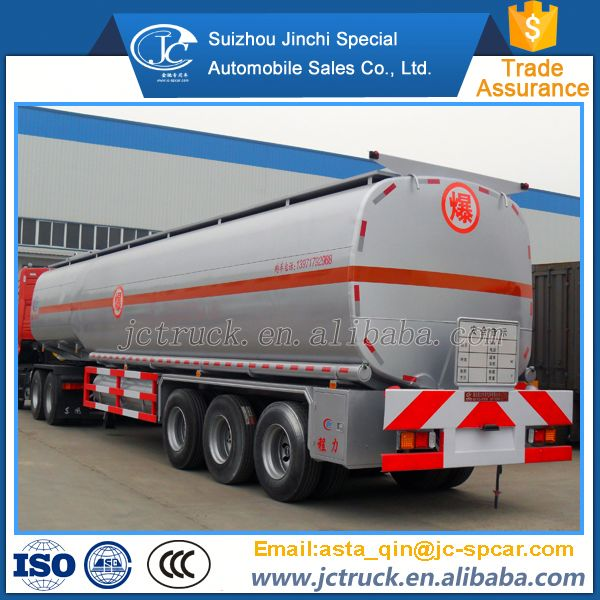 Famous Brand FUWA axle 36000 litres fuel tanker semi trailer manufacturer