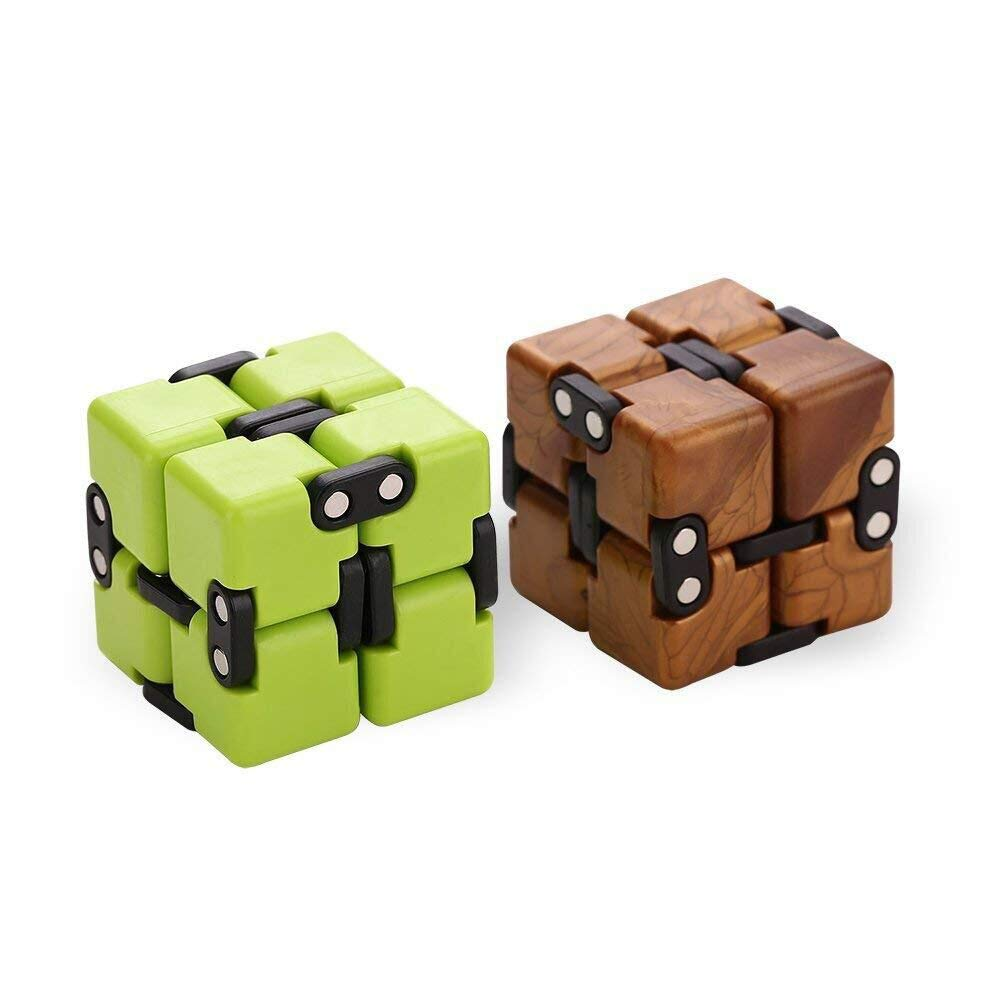 AngelarSea Mini Infinity Cube , Decompression Toy,Cool Mini Light Gadget Best for Reduce Anxiety Puzzle and Kill Time for Kids Teens Adults(2 Pack).