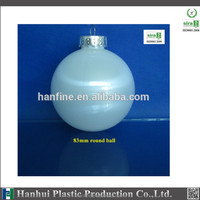 80mm plastic ball for christmas decoration/factory sale/OEM is welcome