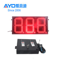 China Hoge Helderheid LED Prijs Screen, <span class=keywords><strong>Blauw</strong></span> 7 Segment LED Display 3 Cijfers