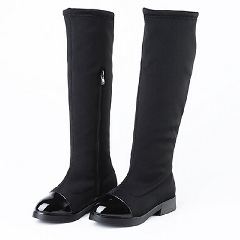 372ebc92dfc2 Get Quotations · Kids Shoes for Girl Boots 2015 Girls Autumn Winter Boot  European Style Black Over Knee