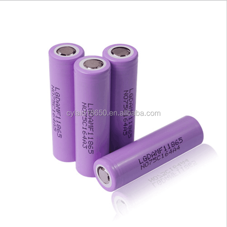 hot sale lg mf118650 battery li-ion battery 3.7v cell 18650-2200mah with power battery