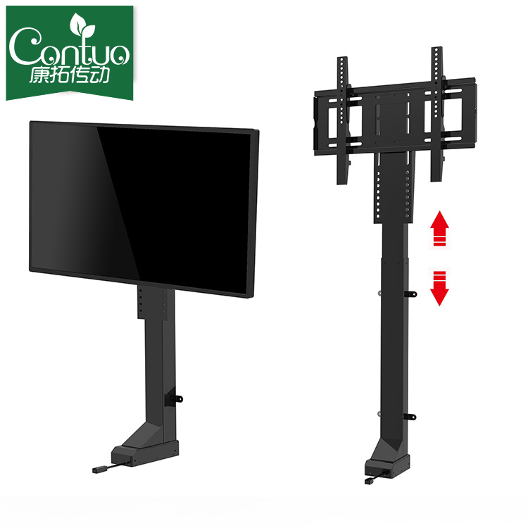 32 ~ 72 inch Kantoor Tafelblad Verborgen LED Monitor Pop Up Mechanisme/TV Screen Gemotoriseerde Lift voor Conference System
