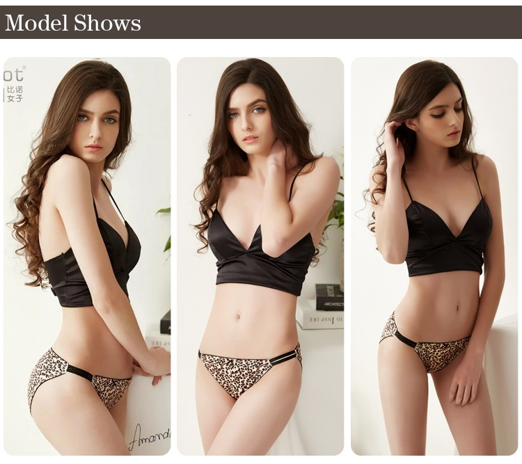 comfortable fashion druable leopard ladies night underwear for sale