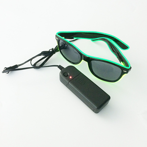 Party Favors Light Up EL Wire Aviator Sunglasses