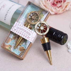 "NEW ARRIVAL ""Our Adventure Begins"" Compass Bottle Stoppers party wedding favors"