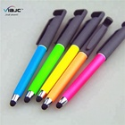 4 in 1 colorful neon pen soft rubber coated with highlighter stylus pen phone holder stand ballpoint pen