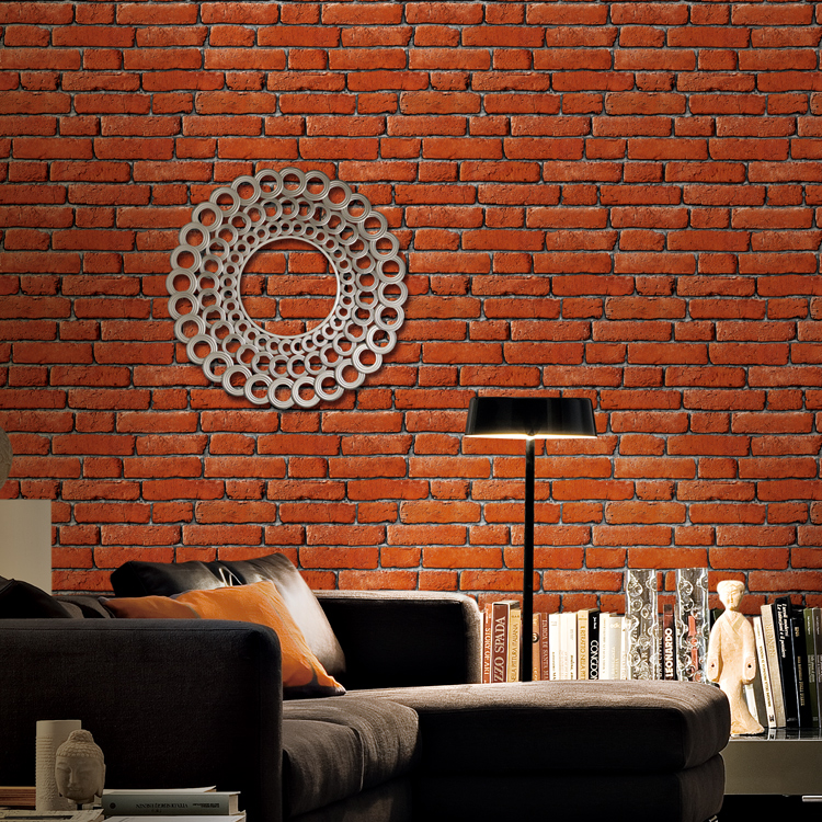 Country style wall decoration paper 3d brick wallpaper for living room background wallcovering 3d bedroom wallpaper