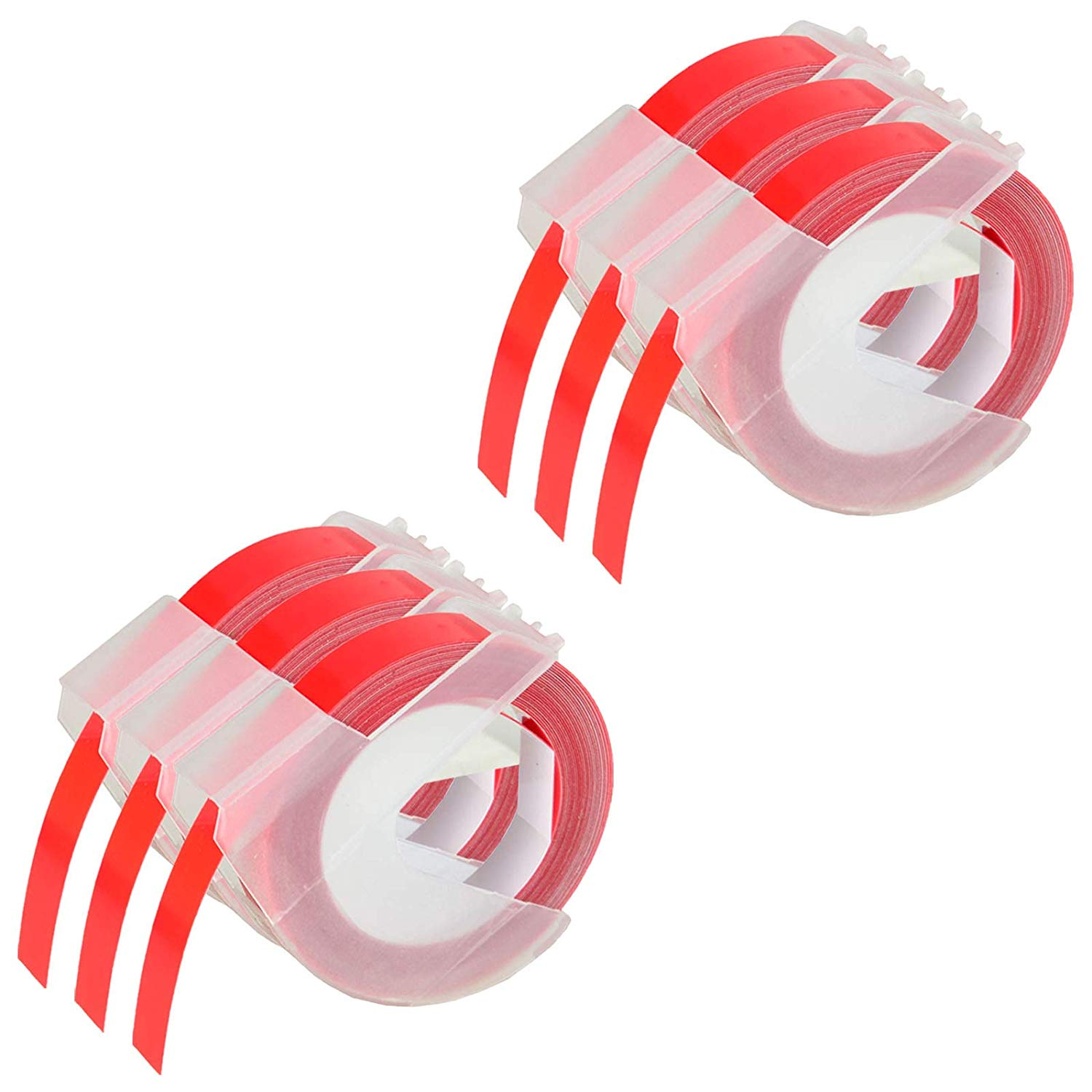 20 rolls x Genuine Dymo 3D embossing tape labels 9mm x 3m in RED