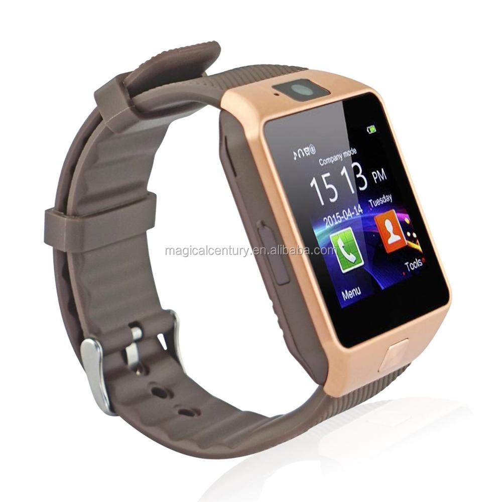 Factory price dz09 smart watch SIM card TF card bluetooth NFC function alloy case silicone strape smart watch DZ09
