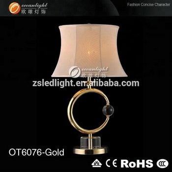 Golden Round Antique Crystal Chandelier Table Lamp Wholesale Metal