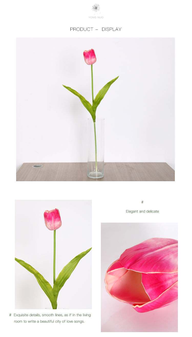 Wholesale Romantic Real Touch Single Stem Artificial Flowers Wedding Tulip
