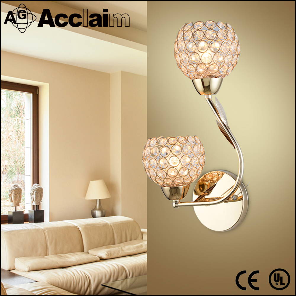 Classical Lighting Antique Industrial Wall Lamp Crystal American Style Lighting