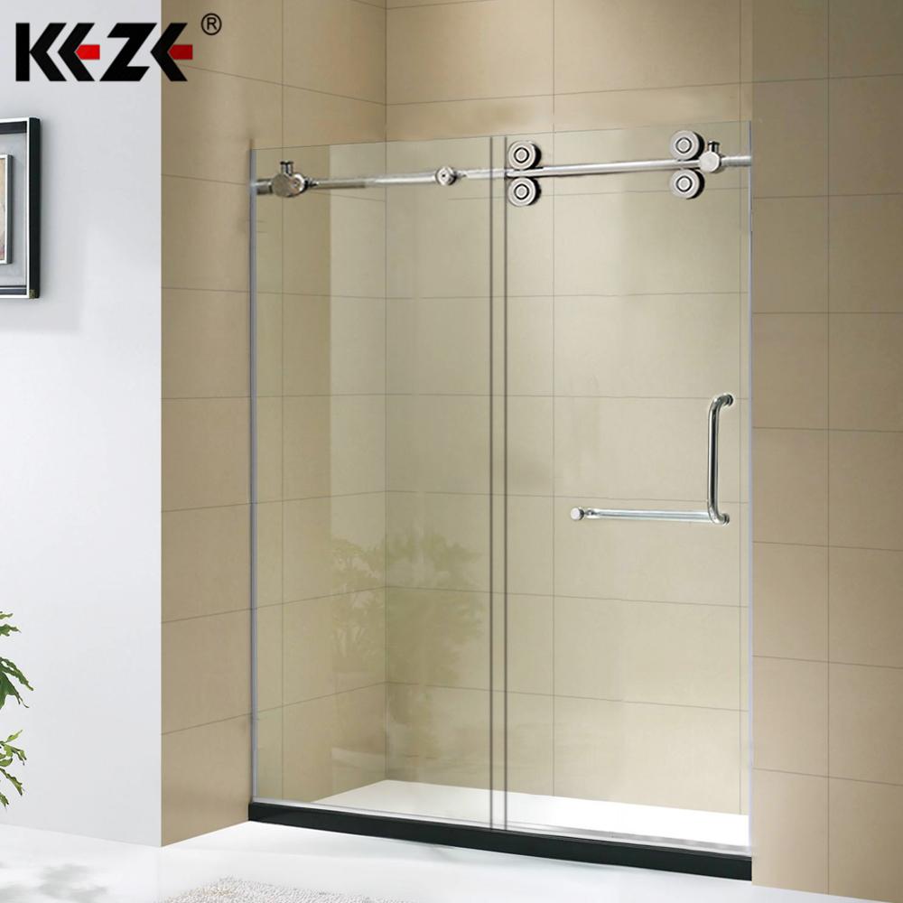 High Quality Prefabricated Hanging Roller Frameless Sliding Gl Shower Door