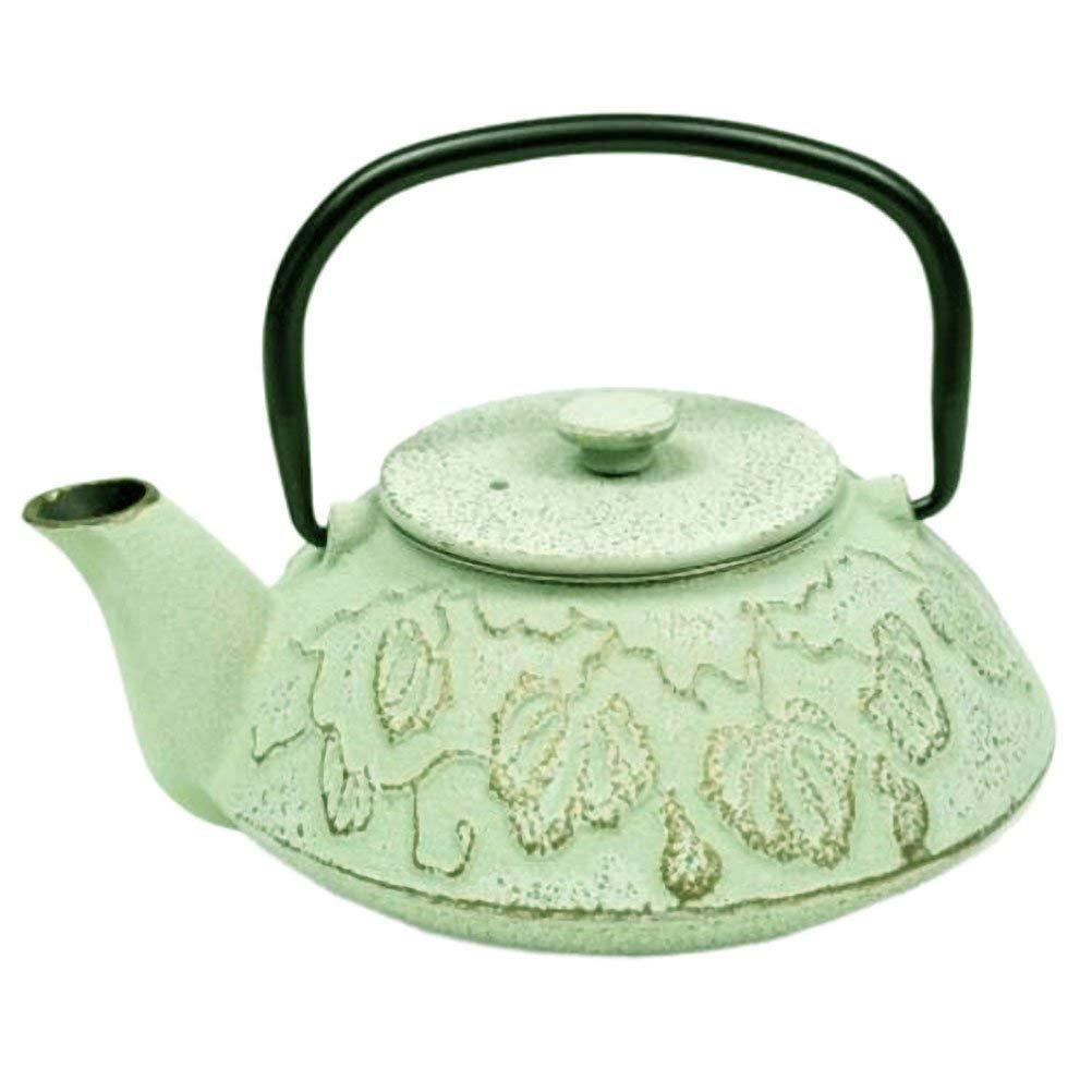 Iwachu Japanese Iron Teapot Tetsubin Turquoise Goldfish