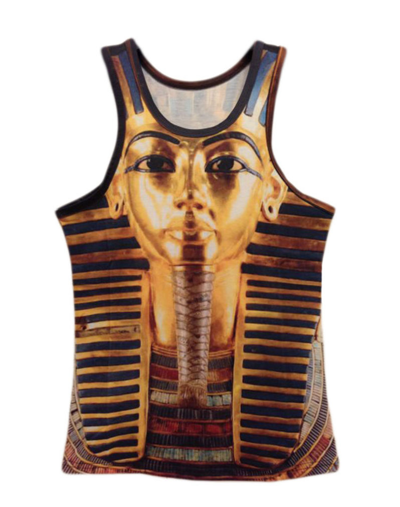 Professional for Men Women Golden Pharaoh Queen Unisex Vest 3D Big Face Tank Top Custom Muscle Hip Hop Sleeveless Tank T Shirt