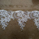 25 cm new design embroidery mesh ivory corded lace for wedding