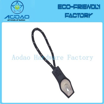 Customized sportswear zipper elastic puller with string