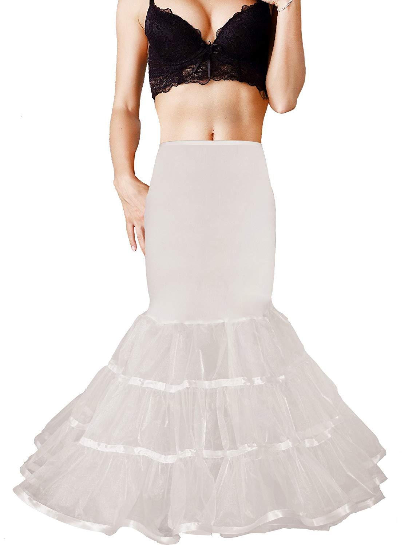 af51139ff148 Get Quotations · Shimaly Women Mermaid Petticoat Fishtail Underskirt  Trumpet Crinoline for Mermaid Wedding Dress