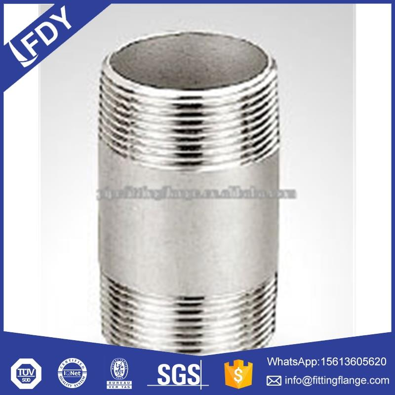 150lb Bsp / NPT Threaded / Screwed Hydraulic Stainless Steel Barrel Nipple