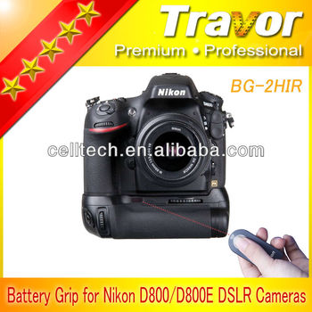 new battery pack bg 2h battery grip for nikon d800 d800e with ir