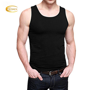 Ecoach Cotton Compression Singlet Bodybuilding Fitness Soft Breathable Slim Fit Custom Men undershirt