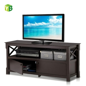 Home Entertainment Center X-Shape Wood Panel TV Stand Made in China,Media Console Cabinet for Flat Screen TVs