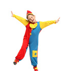 Gift Tower Top Sales Children Clown Boy Costume Halloween Costume Carnival Party Performance Costumes