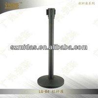 LG-B4 FACTORY PRICE Black Steel Retractable Post