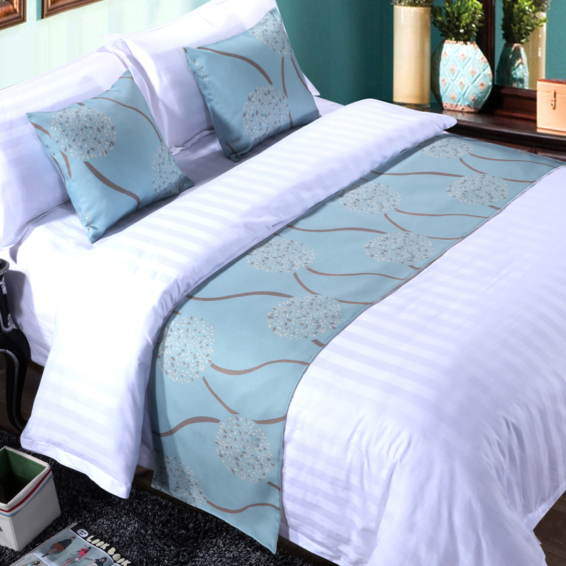 High quality printed hotel bed runner bed throw