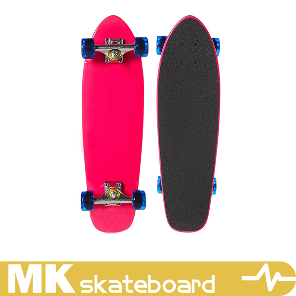 Customize high quality canada maple cruiser board , professional cruiser, 3 ply bamboo and 2 ply fiber