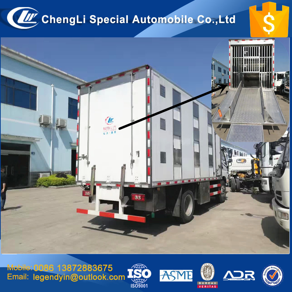 CLW high end livestock and poultry transport van box truck for piggy and chicks with a lot equipment to guaranteed survival rate