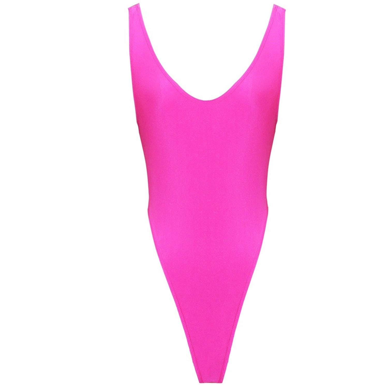 126b9fdb5a Get Quotations · Freebily Women s Gymnastics High Cut Thong Leotard  Bodysuit Swimsuit