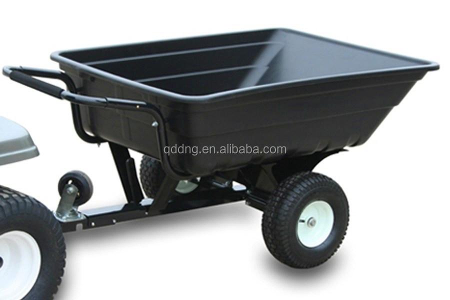 trois roues jardin tracteur panier heavy duty remorque brouette pour monter sur tondeuse gazon. Black Bedroom Furniture Sets. Home Design Ideas