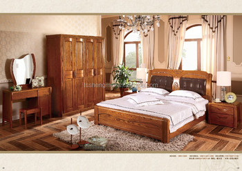 Latest Design Wood Color Pure Wood Adult Bedroom Sets King Size ...