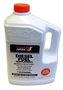 Power Service Diesel Fuel Supplement + Cetane Boost 80oz., Individual Bottle Treats 250 gallons diesel fuel per Bottle