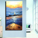 Beauty Seascape oil painting knife painting sunset ocean sence on canvas