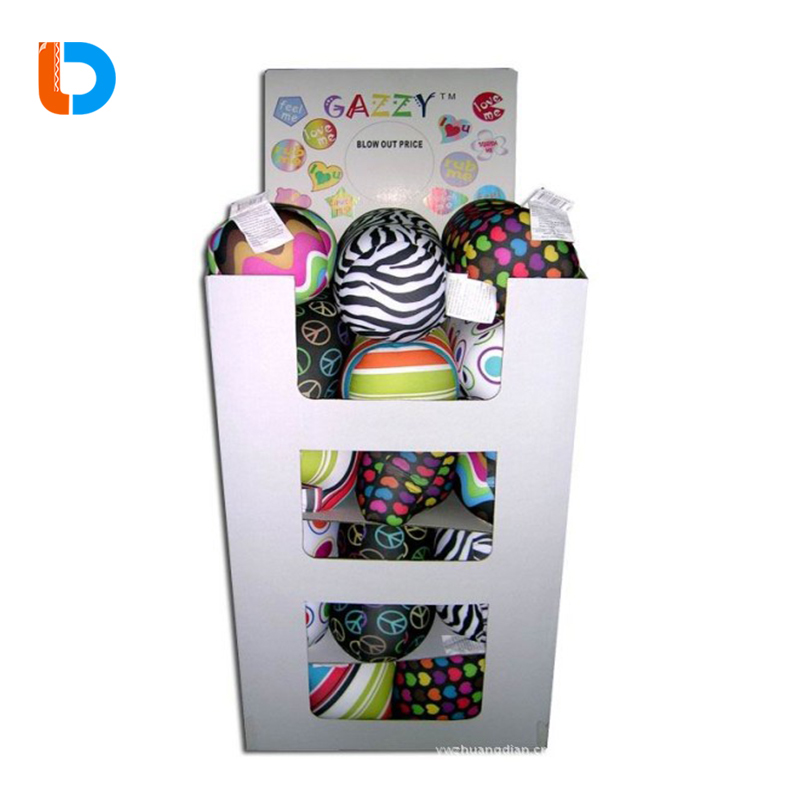 Chinese Manufacturer Customized Cartoon Recycling Cardboard Dump Bins Display For Toys