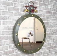 American Style Creative Metal Art Framed Wall bathroom decorative Mirror