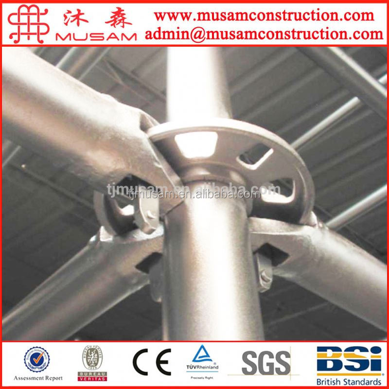 China manufacture Construction material steel used cuplock scaffolding system