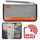 Family RFID Blocking Cover Credit Card Document Organizer Travel Passport Wallet Passport Holder