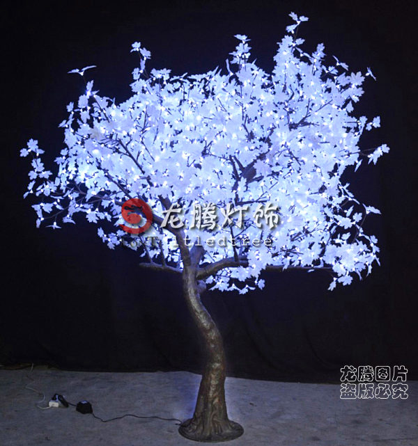 Arbres de no l lumineuses ext rieures blanches arbre de for Arbre artificiel de noel