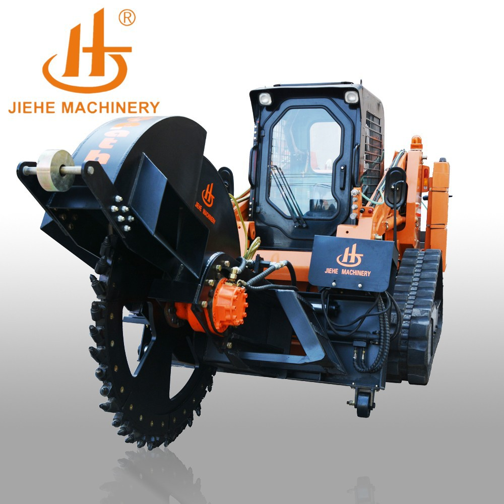 2015 newest design trench digger chain trencher for laying cable optical fiber with 500mm cutting depth JHK600